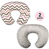 Stretchy Nursing Pillow Covers-2 Pack Nursing Pillow Slipcovers for Breastfeeding Moms,Ultra Soft Snug Fits On Infant Nursing Pillow,Arrow Chevron: more info
