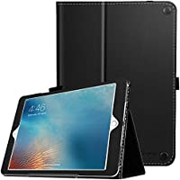 Ztotop Premium PU Leather Smart Cover with Wallet & Credit Card Slot Stand Cover for Apple iPad Air 1 2, Black (Auto Wake/Sleep)