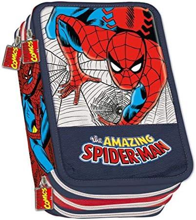 Estuche de 3 cremalleras Spiderman Franco Panini: Amazon.es: Oficina y papelería