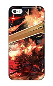 Hot Style NUrFXjC9466Lktgb Protective Case Cover For For iphone 4/4s(animal Ears Dragon Fire Horns Pixiv Fantasia Saberiii Sword)