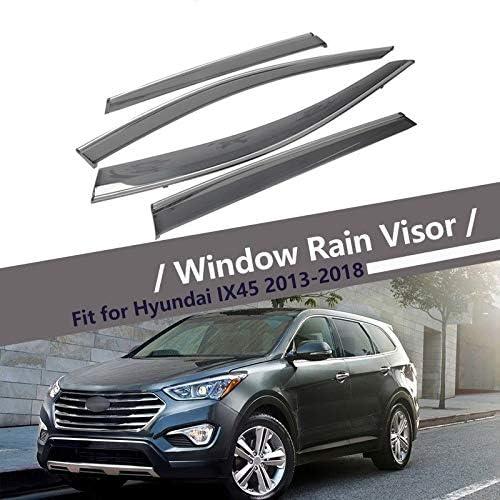 SYJY-SHOP Deflector for Hyundai IX45 Santa Fe Autofenster Regen Proof Deflector