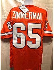 Gary Zimmerman Denver Broncos Signed Autograph Custom Jersey JSA Witnessed Certified