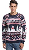 *daisysboutique* Mens Christmas Holiday Snowman and Tree Ugly Sweater Cute Pullover