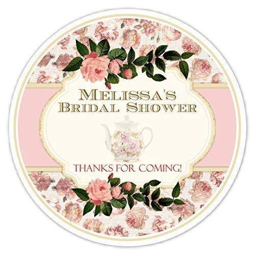 Amazon 36 Bridal Shower Labels Vintage Tea Party Bridal Shower