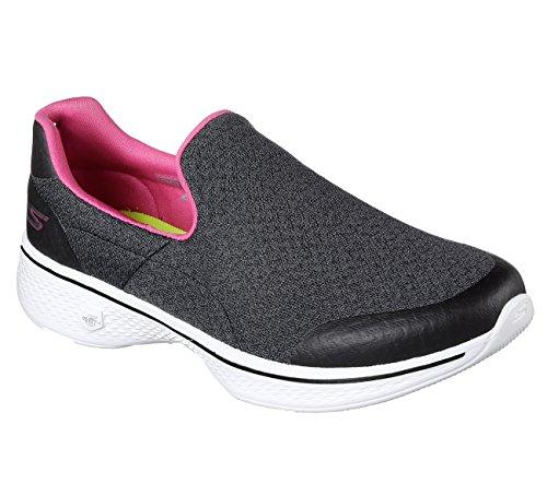 Enfiler Black Go Pink Walk Femme hot 4 Skechers Baskets aIZww