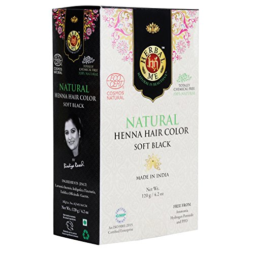 Herbal Me Henna Hair Color - Soft Black CERTIFIED 100% NATURAL
