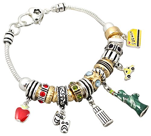 O3 New York City Theme Charm Bracelet 7.5 Inch