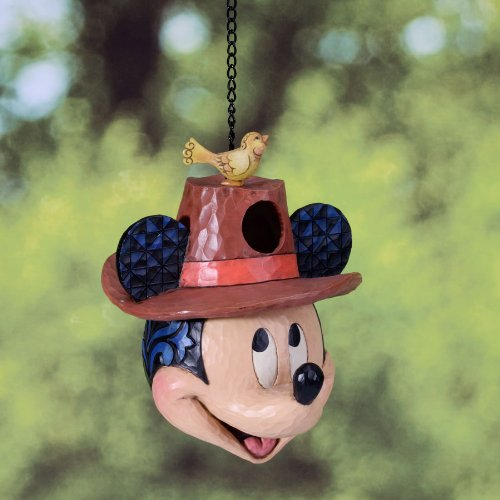 Jim Shore Disney Traditions *Welcome Home* Mickey Mouse Head Birdhouse
