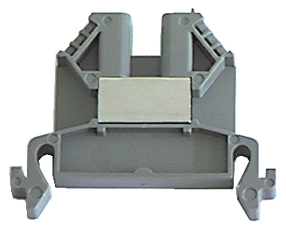 WIELAND Reihenklemme 9700A/6 Breite 6mm grau Länge 46, 6mm S35 0, 5-4mm² Hutschiene 35mm