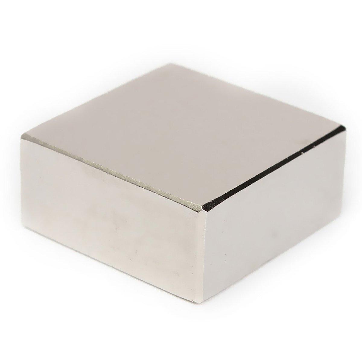 AOMAG Block 40x40x20mm N52 Super Strong Rare Earth magnets Neodymium Magnet 1.57''x1.57''x 4/5''(+/-0.05mm)