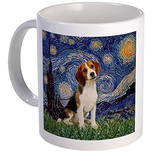 CafePress Starry Night & Beagle Pup Mug Unique Coffee Mug, Coffee Cup