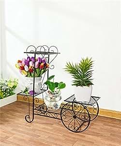 cdblchandelier flor accesorio de/hierro flor Stand/Soporte de suelo Flores, De Varios Pisos/bicicleta interior modelos estante de flores/flor verde florero de flores accesorio de/de lámpara de araña de estilo europeo, negro