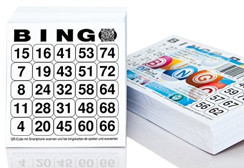 500 Bingolose / Bingotickets System 25 aus 75 (10,5 x 11 cm)