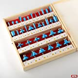 ATE Pro. USA 41054 35 Pcs Tungsten Carbide Router Bit Set Woodworking Wood Carpentry ATE Tools