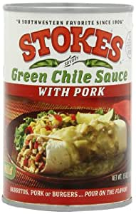 Stokes Green Chile Sauce with Pork, 15 Ounce