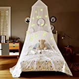 Truedays baby White Mosquito Net Bed Canopy With Glowing Stars for Kids