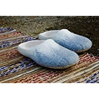 BureBure Ombre Felted Wool Slides Slippers for Women Handmade in Europe