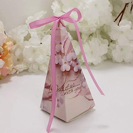 Zoloyo 50Pcs Forma de Pirámide Candy Cajas con Cinta Boda ...