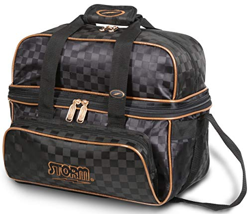 Storm 2 Ball Tote Deluxe Black/Gold (Bowling Ball 2 Bag)