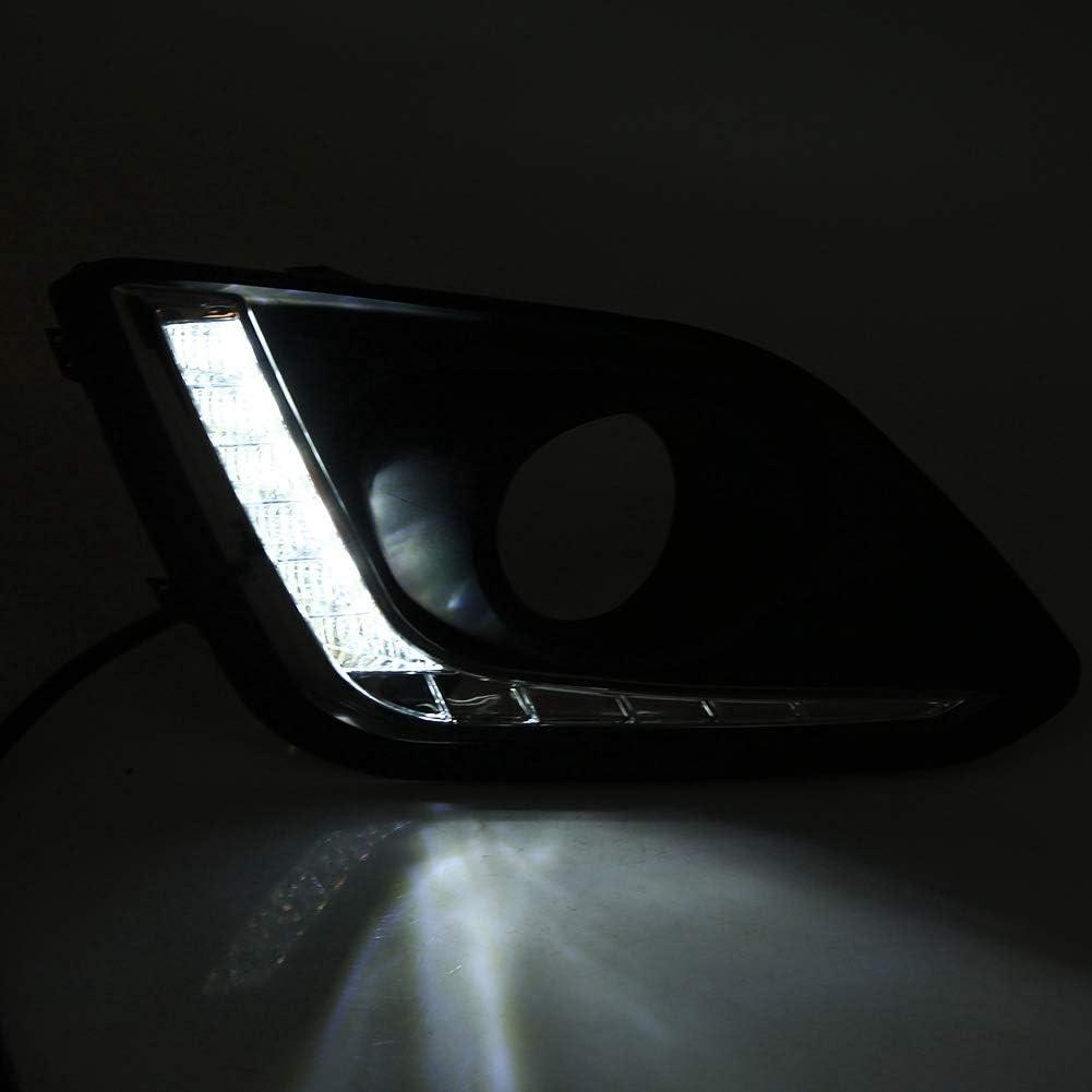One Pair LED Daytime Running Light DRL LED Daylight Fog Lamp Cover for Suzuki Swift 14-16 Car Daytime Running Light