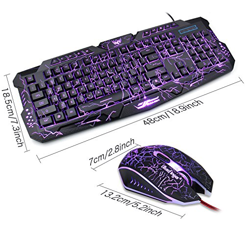 gaming keyboard and mouse combo bluefinger usb wired computer import it all. Black Bedroom Furniture Sets. Home Design Ideas