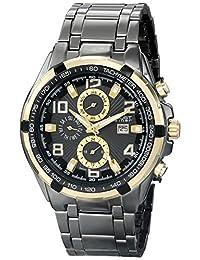 August Steiner Men's AS8127YGB Analog Display Swiss Quartz Black Watch