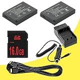 TWO Panasonic Lumix DMC-GX1 16 MP Micro 4/3 Compact System Camera DMW-BLD10 Lithium Ion Replacement Batteries w/External Rapid Charger + 16GB SDHC Memory Card + Mini HDMI Cable DavisMAX Accessory GX1 Bundle