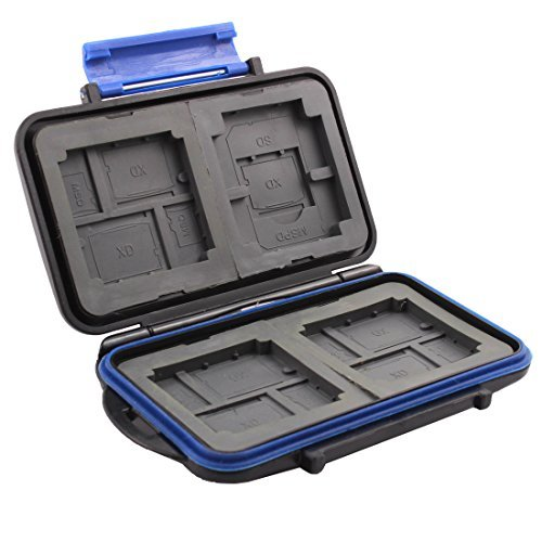 DealMux ABS Water Resistance Anti-Dust Memory Card Storage Case for SD CF TF XD MSPD (Mspd Card)