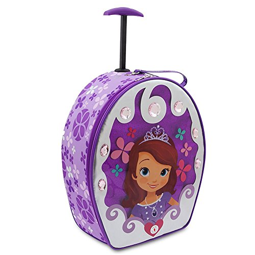 Disney Store Princess Sofia the First Light Up Rolling Luggage/Carry-On Suitcase