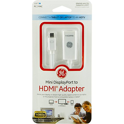 GE Mini DisplayPort to HDMI Adapter, 10873 -