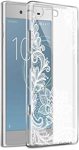Funda Sony Xperia XZ1 Compact, Eouine Cárcasa Ultrafina Silicona 3D Transparente con Dibujos [Antigolpes] Gel TPU Protector Bumper Case Cover Fundas para Movil Sony Xperia XZ1 Compact (Flor Blanca): Amazon.es: Electrónica