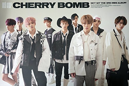NCT 127 - NCT#127 CHERRY BOMB (3rd Mini) [Type-B] OFFICIAL POSTER with Tube Case 24 x 36.2 inches ()