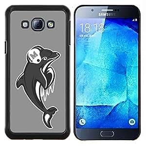 LECELL--Funda protectora / Cubierta / Piel For Samsung Galaxy A8 A8000 -- Miami Dolphin Fútbol --
