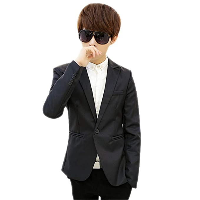 33ffd7243c5b KINDOYO Modern Casual Suits - Men Winter Slim Fit New Suits Coat Long  Sleeve Blazer Business Coat Gentleman Jacket One Button: Amazon.co.uk:  Clothing