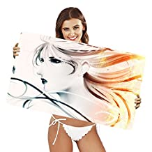 XtremePads [ Extra Large Gaming Desk Mouse Mat / Pad ] - ( Artistic Women Woman Feather Long Hair )