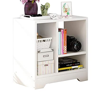 Amazon.com: Nightstands White Bedside Table Cabinet Drawer Shelf ...