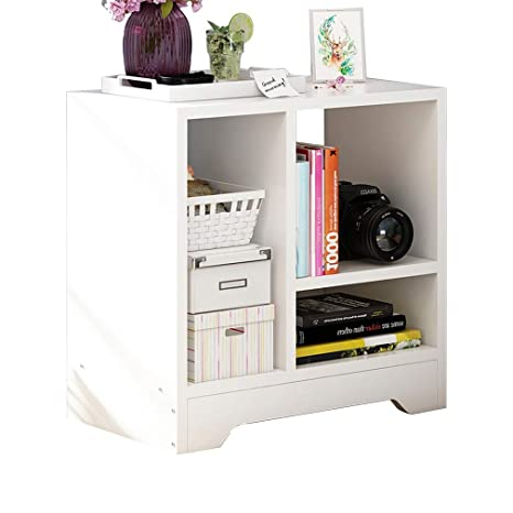 Amazon.com: Nightstands - Mesita de noche blanca con estante ...