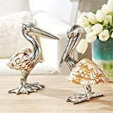 Tozai Set of 2 Shell Sculpture Pelicans