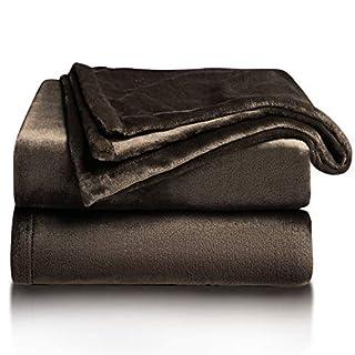 Bedsure Fleece Blanket Twin Size Brown Lightweight Blanket Super Soft Cozy Microfiber Blanket