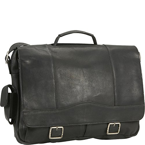 orthole Briefcase in Black (Porthole Laptop Briefcase)