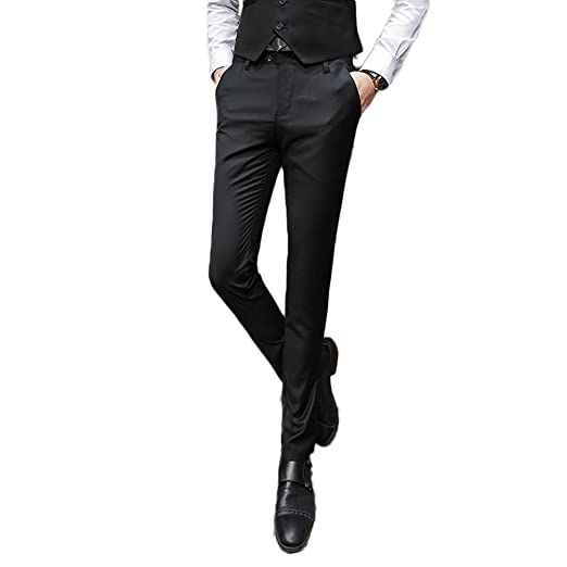 Ak Beauty Mens Slim Fit Suit Pants Wrinkle Free Skinny Flat Front
