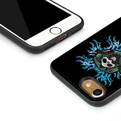 Meimeiwu Hohe Qualität TPU+PC+PU 3D muster Handyhülle Muster Case Cover Schutzhülle für iPhone 7 - Skelett
