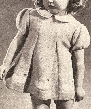 Vintage Knitting PATTERN to make - Knitted Baby Toddler Dress 18mos-2 yrs Swan Motifs. NOT a finished item. This is a pattern and/or instructions to make the item (Swan Motif)