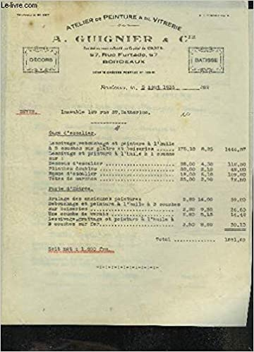 Amazon Fr Une Facture De A Guignier Cie Atelier De Peinture De Vitrerie Datant De 1936 Destinee A Monsieur Andree Un Devis De A Guignier Cie Datant De