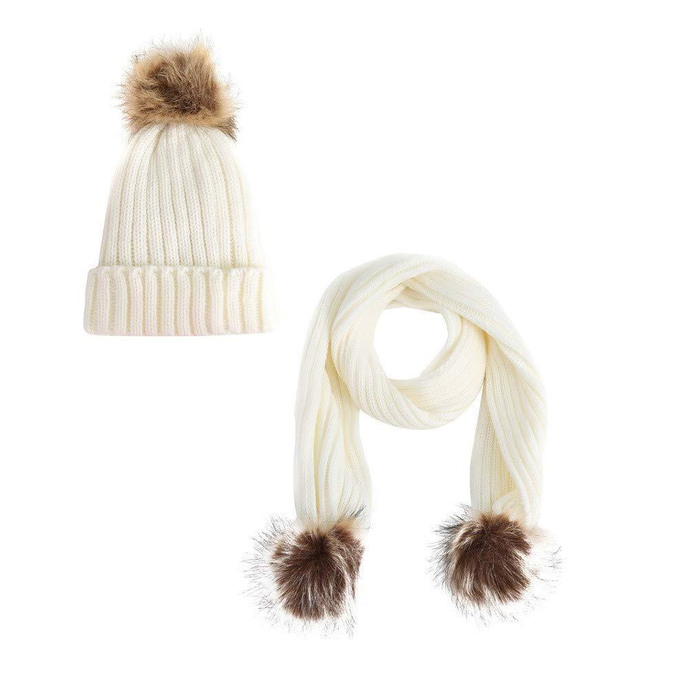 Winter hat,YJYdada Toddler Baby Girls Stripe Bow Knitting Headgear Warm Kids Hat Cap Black