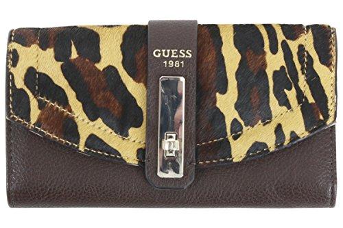 Slim Clutch GUESS Womens Brown SLG Kingsley Leopard Wn6pv