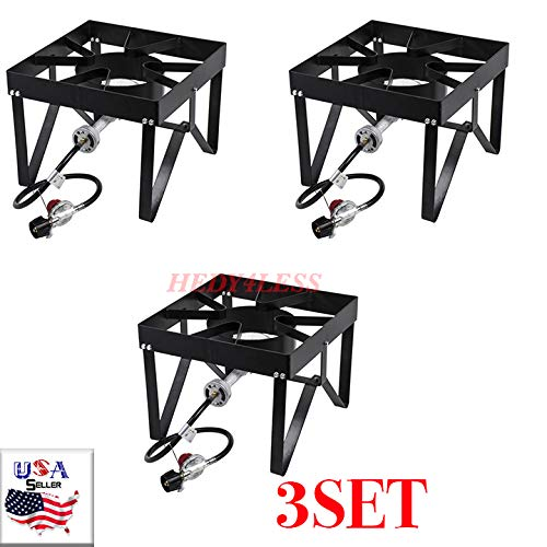 HEDY4LESS 3SET Classic Square Patio Stove Backyard Pro Square Single Burner Outdoor Patio Stove/Range - 55,000 ()