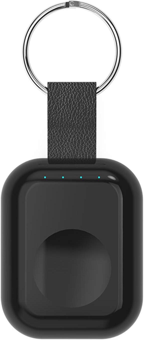 TOOGOO Batería Externa para Apple Watch 1 2 3 Cargador Inalámbrico Banco De Energía 700Mah Banco De Carga Inalámbrico Qi Portátil De Viaje Al Aire Libre