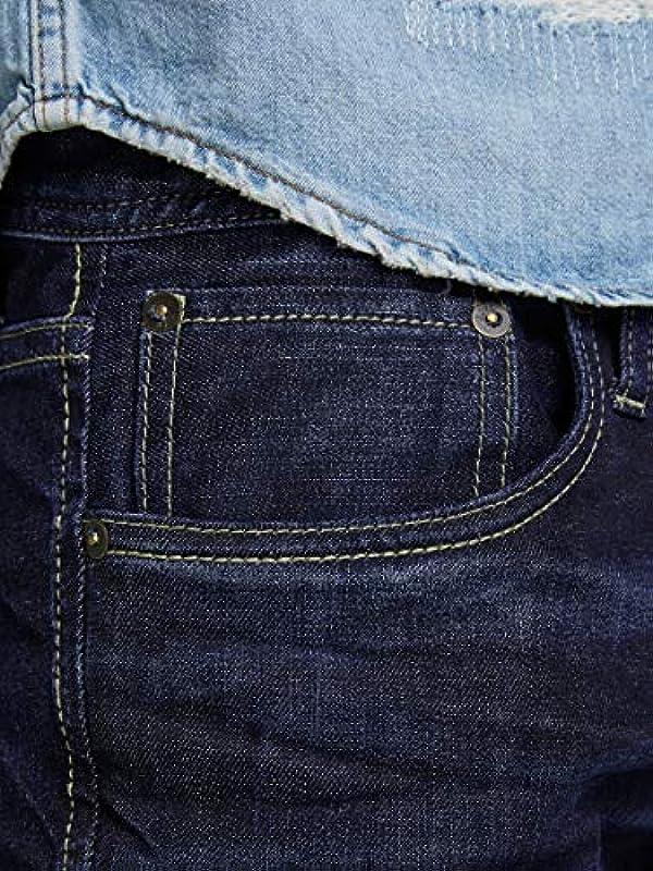 JACK & JONES VINTAGE męskie Straight Leg Jeans JJVCClark Original JOS 318 NOOS, rozm. W38/L34, niebieski (Blue Denim): Odzież