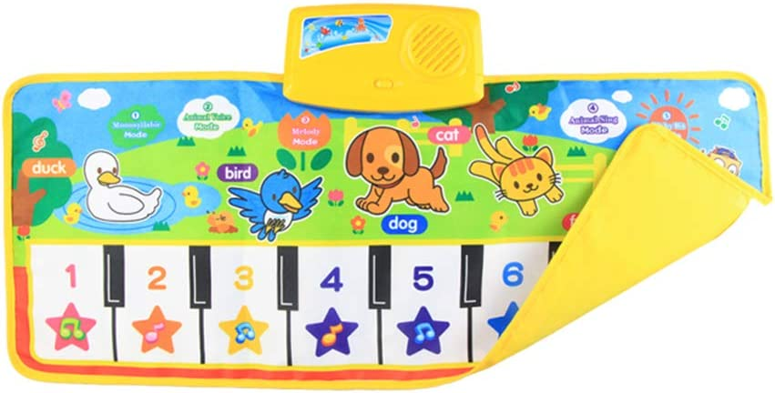 PUDDINGT® Alfombra Musical de Piano, Niños Niños Toque ...
